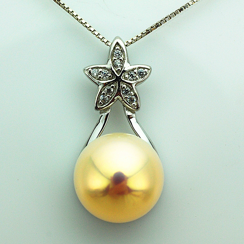 Pearl luster natural pearl pendant strange color no time extremely strong light 925 silver tray from the stars you