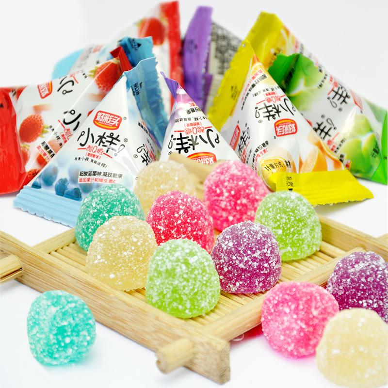 好彩头小样酸q糖散称1000g袋装水果汁软糖qq糖橡皮糖喜糖果零食品