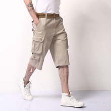 Summer tooling shorts male summer thin more than 7 minutes of pants pocket breeches army green 7 minutes of pants in the male easy leisure trousers