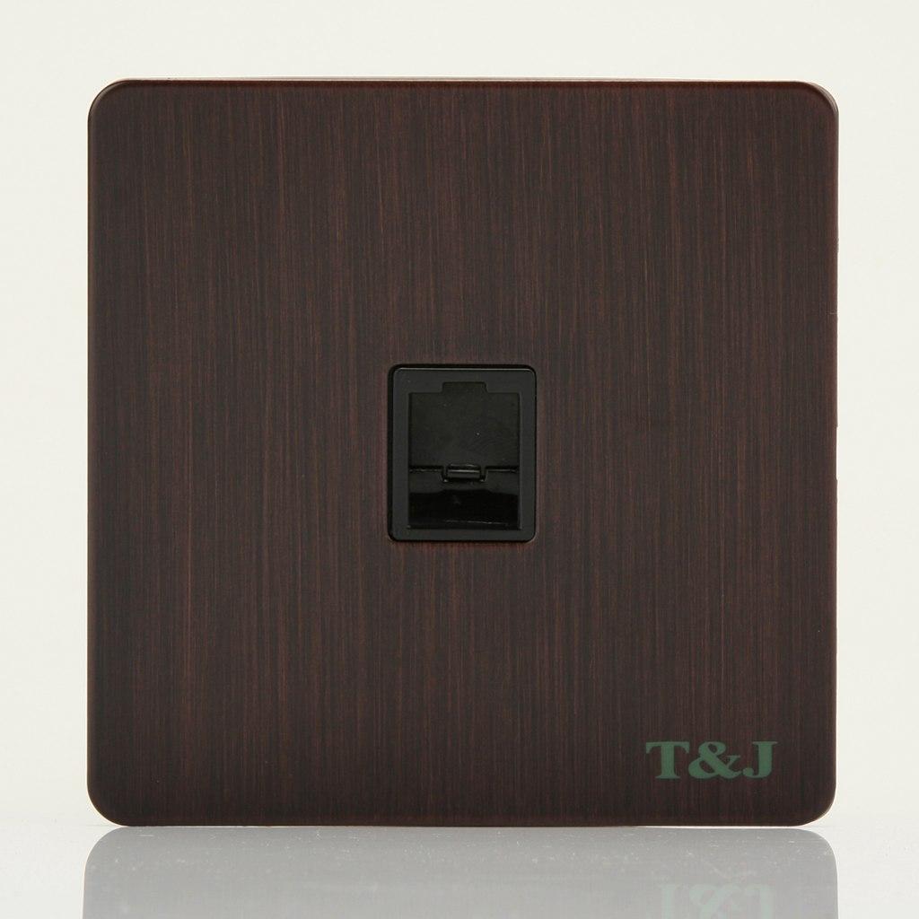 天基高端贵族系列开关插座 86型一位单口电脑网络线信息插座面板