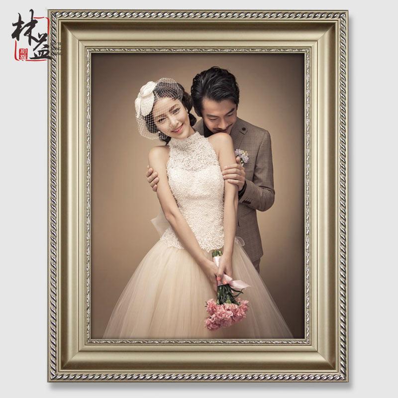 歐式實木大相框掛牆 20寸24寸30寸36寸婚紗照相框照片框 畫框像架