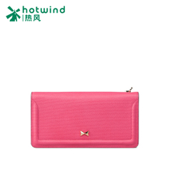 Ms hot air 2015 new solid color bow zipper around wallet purse bag change bag women 5103H5505