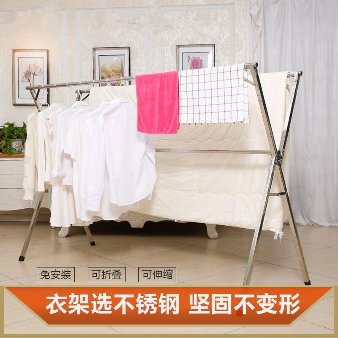 Сушилка для пола из нержавеющей стали со складыванием Телескопические сушильные стойки Балконные вешалки Одеяла для одежды Охлаждающее солнце Вешалки для одежды