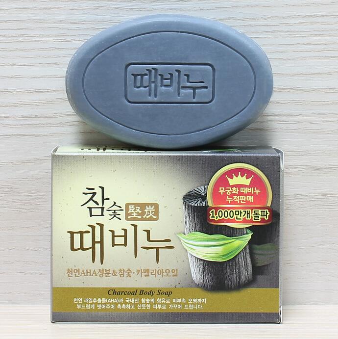 韩国进口 吴琼花 mkh木炭去灰皂 竹炭去泥皂 清洁控油 100克