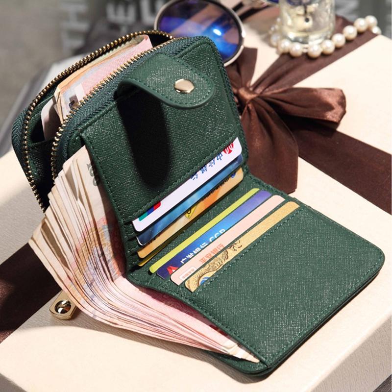 钱包女新款韩版潮学生时尚短款多功能拉链小钱包甜美零钱包大钞夹