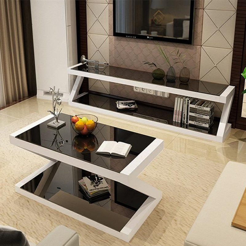 Спеццена доставка включена телевизионный шкаф кофейный столик комбинированный набор закалённое стекло современный небольшой квартира гостиная простой телевизор кабинет