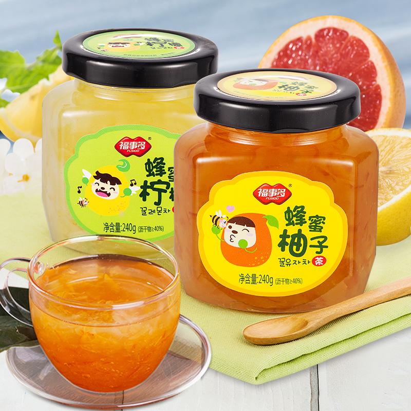 ^~送木勺^~福事多蜂蜜柚子檸檬茶240g^~2韓國風味水果茶蜜煉醬衝飲品