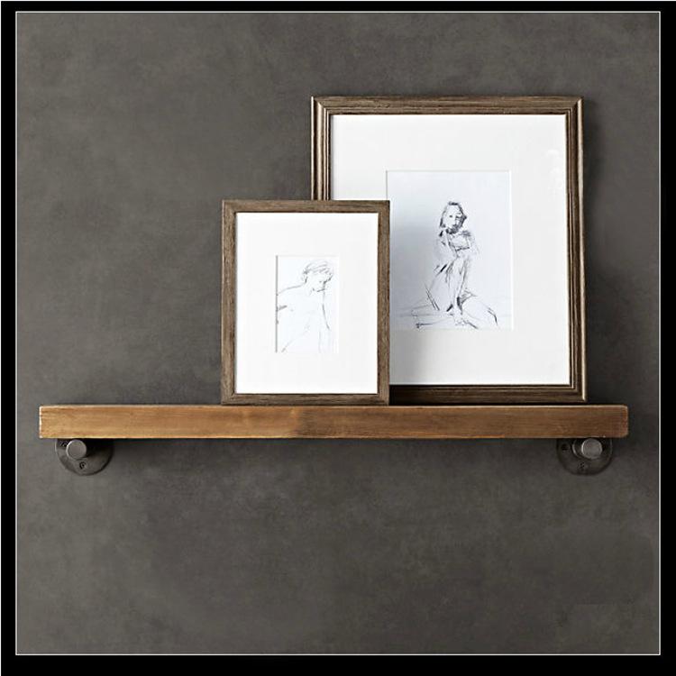 Американский железо дерево приставка стеллажи легко многофункциональный гостиная спальня стена на доска хранение полка