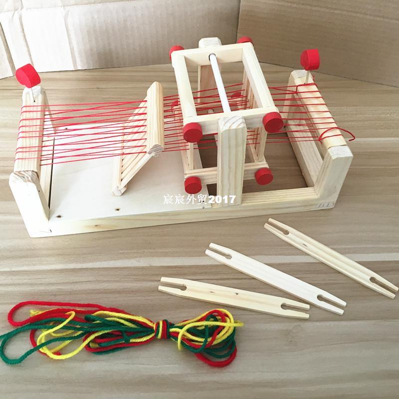 baby toys 3d model wooden traditional weaving loom childrens