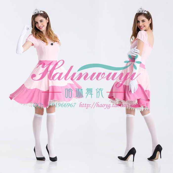 Live photo Pink Princess Dress export Halloween Ghost Festival stage costume cos Carnival role play
