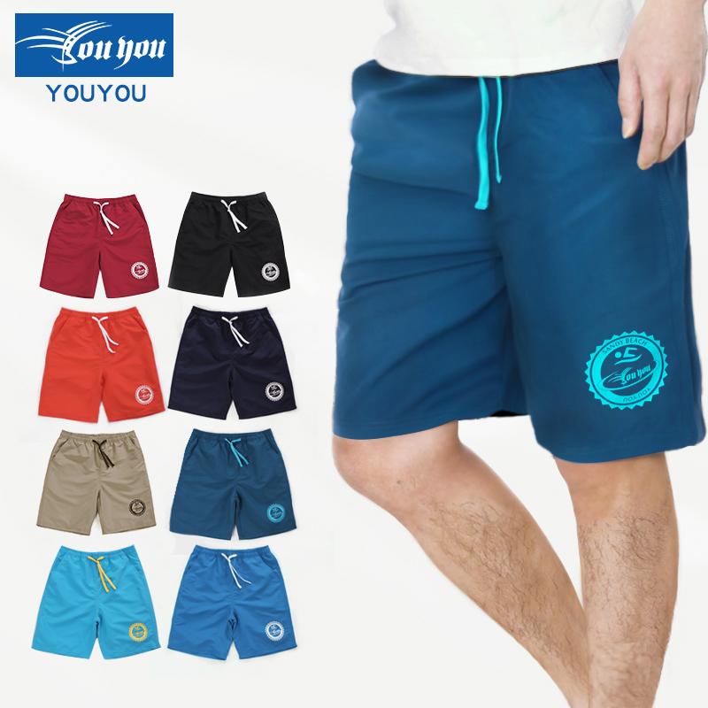 情侶男女舒適五分遊泳褲加肥大碼男士溫泉泳衣沙灘褲寬鬆平角泳裝