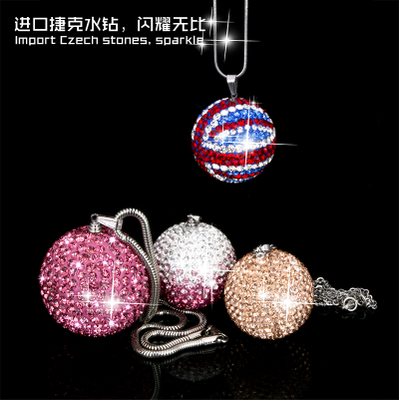 Car Hang Rearview Mirror Hanging Ornaments Diamond Jewelry Protect