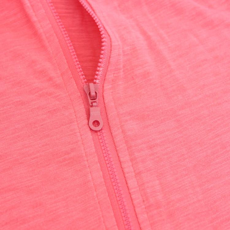 秋装纯棉外套带帽空调衫长袖大码超薄拉链开衫竹节棉电瓶车防晒衣