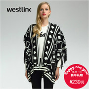 Westlink/West 2015 winter new tide ladies casual fringed shawl jacket Cardigan