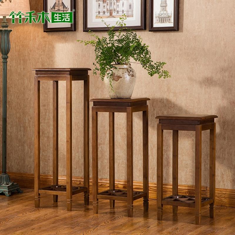 花架花盆架子盆景架客厅绿萝吊兰花架双层楠竹仿古中式花架