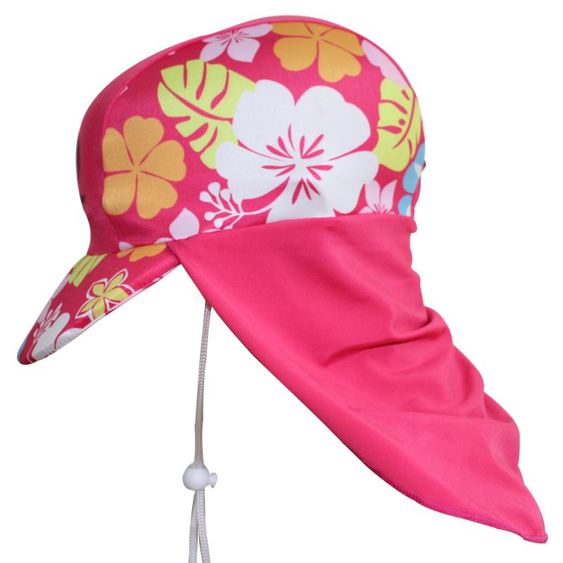 兒童防曬鬼子帽 防紫外線沙灘帽 寶寶防曬泳帽太陽帽遮陽帽遊泳帽