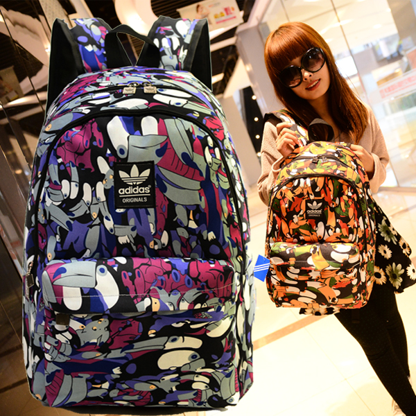 more photos 9a918 24306 Authentic Adidas fashion shoulder bag men and women college wind bag  computer bag high school students travel bag tide - Taobao Depot, Taobao  Agent