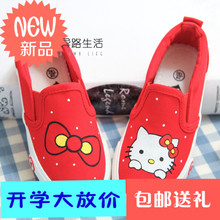 Han edition shoes girl children casual shoes in the 4-6-8-11 year old girl canvas shoes pupils a leather shoes