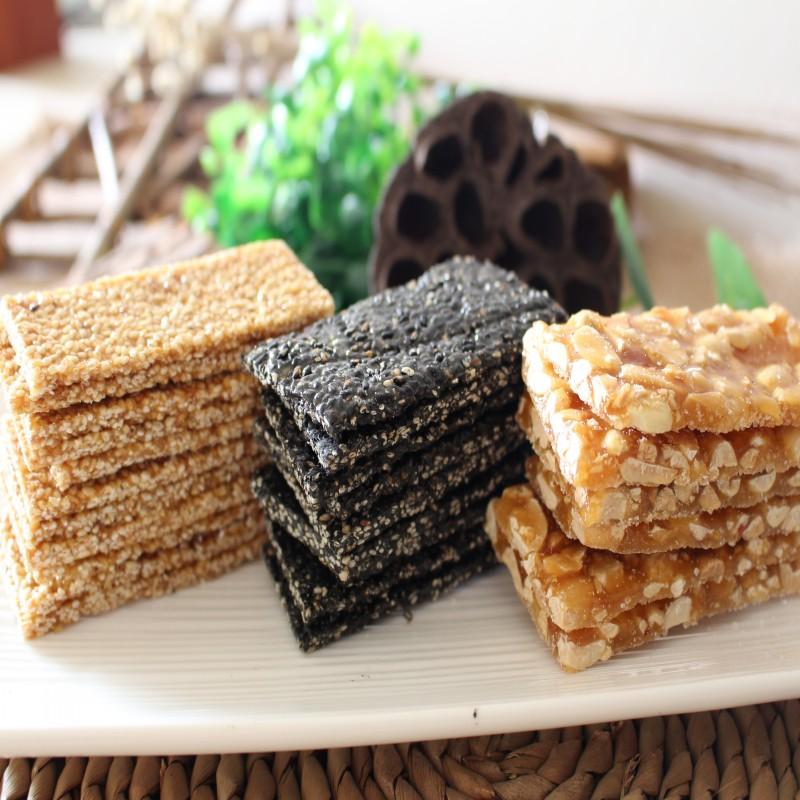 芝麻片手工香脆薄片516g黑芝麻糖片零食传统点心休闲特产小吃糕点