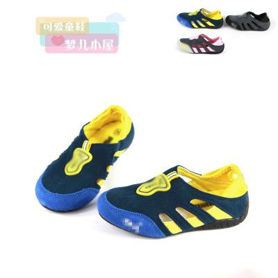 Новая кожа натуральная Детская обувь мальчиков обувь, обувь для девочек в летние спортивные сандалии обуви дышащей полые отверстия туфли 2-почта