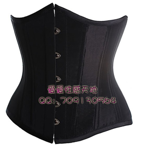 CORSET tight corset belt clip palace vest girdle sexy girly black 1035