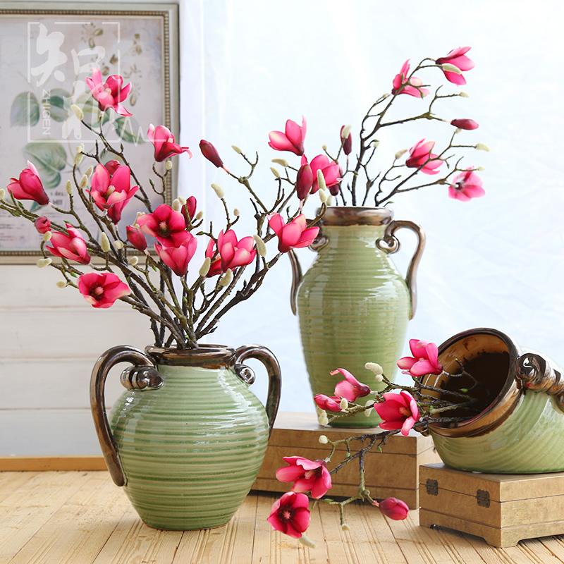 知根 高手感仿真玉蘭花 客廳裝飾插花假花 餐桌擺放花卉 絹花單支