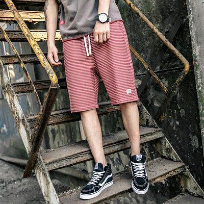 春夏 日系条纹短裤五分裤 两色 A204-P60 控价88