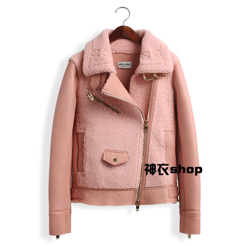 Новые импортные овец кожи зимой мех пальто женщин стриженого меха лацканы овец обрезаются кожа куртка женщин