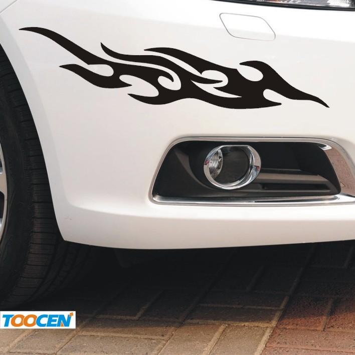 汽车贴纸装饰文字3d立体划痕个性遮挡改装防水拉花刮痕创意车身贴