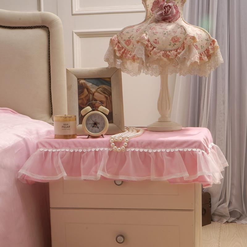 好夢連連 玫瑰公主床頭櫃罩