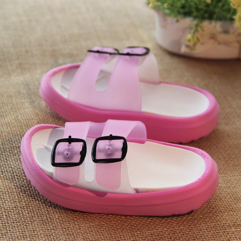 2021 summer childrens slippers soft bottom anti slip boys cool slippers girls home slippers Korean childrens shoes baby shoes