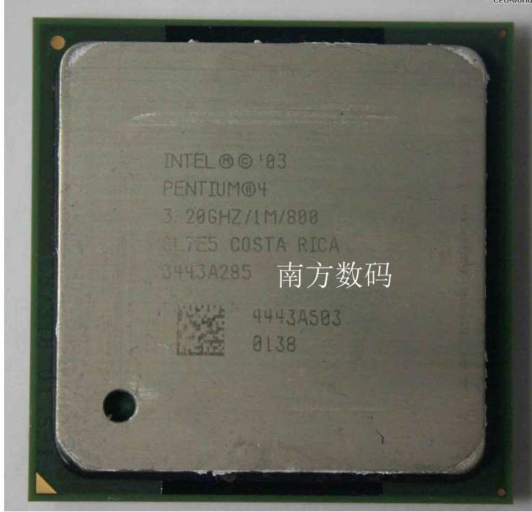 原装奔腾 P4 3.2E 1M 800 3.2G HT超线程 478针CPU 865主板用
