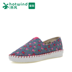 Hot spring and the spring and autumn new Strawberry pattern in children's shoes canvas shoes casual low bangtao shoes women 737H15108