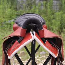 Two-man saddle cowhide tourist horse saddle with double horse pedal father and son saddle couple saddle full set horse saddle utensils with supplies