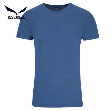沙乐华 026381 2017款 男式针织羊毛速干圆领T恤
