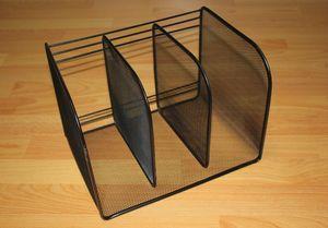 包邮三档文件架 三列杂志盒 金属铁丝网桌面文件框 书架档案架 资料架创意简约小书架简易桌上书本塑料文件架