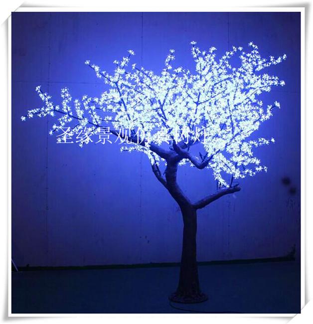 发光仿真树灯 定做led假树 玻璃钢仿真花树灯庭院仿真灯树led树灯