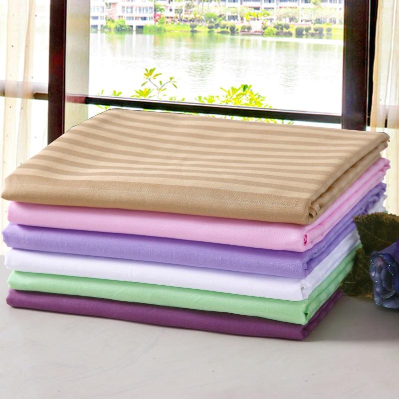 美容院床单 纯棉美体SPA足浴按摩全棉定做床罩开有洞口床单包邮