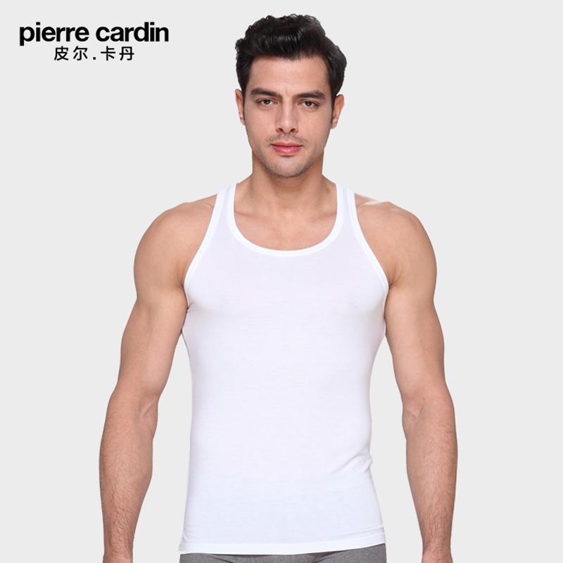 皮尔卡丹内衣 专柜同款P53919 兰精莫代尔工字窄肩打底夏男士背心