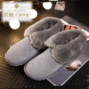 Puqi 2015 new snow boots women''s thickening hair warm low-tube short boots nubuck leather women winter boots