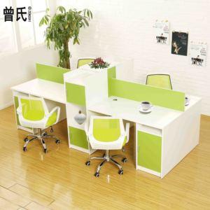 时尚简约职员办公桌椅组合4人位屏风隔断上海办公家具员工桌特价
