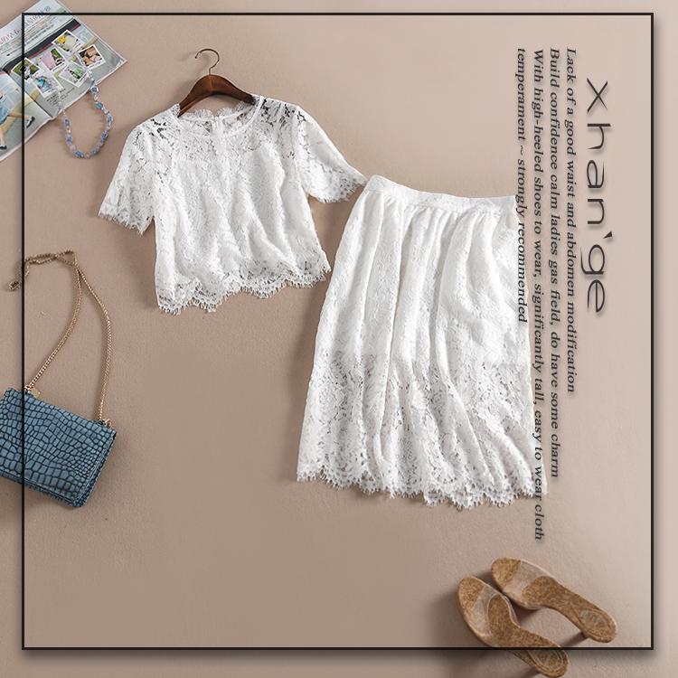 Улыбаясь Хань обслуживание 2015 осень/зима новый стиль ремень + хлопка юбка три кусок набор D294424T