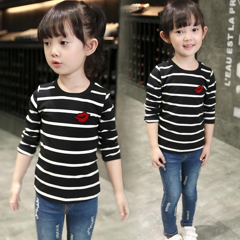 寶寶條紋兒童女童打底衫