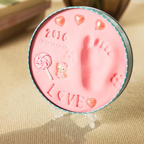 手足情嬰兒手足印泥 新生兒童手腳印泥滿月寶寶 品周歲