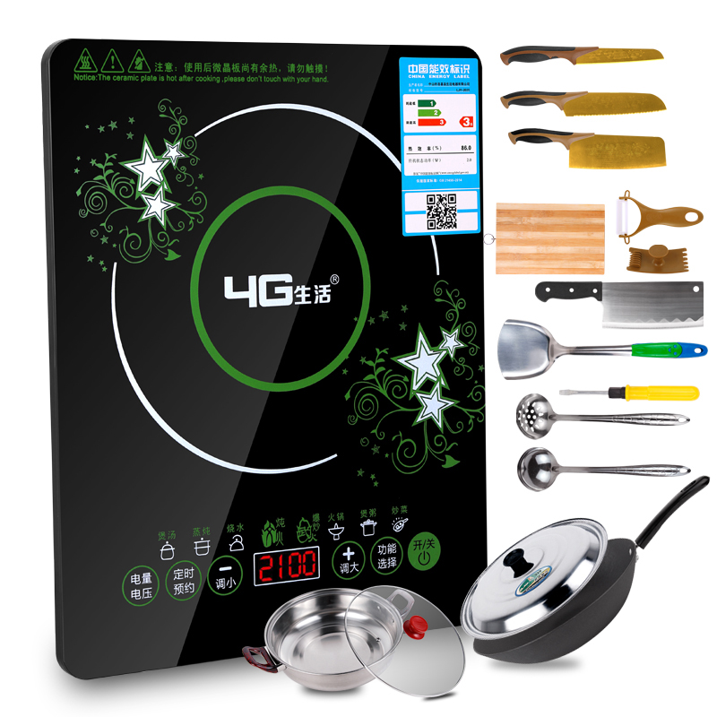 4г жизнь LJY-2025 коснуться умный электромагнитная печь специальное предложение подлинный взрыв жарить большой мощности домой блюдо кухня
