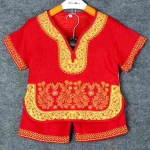 棉绸汉服儿童中国风一周岁男孩衣服夏季男童装 夏天小孩套装宝宝