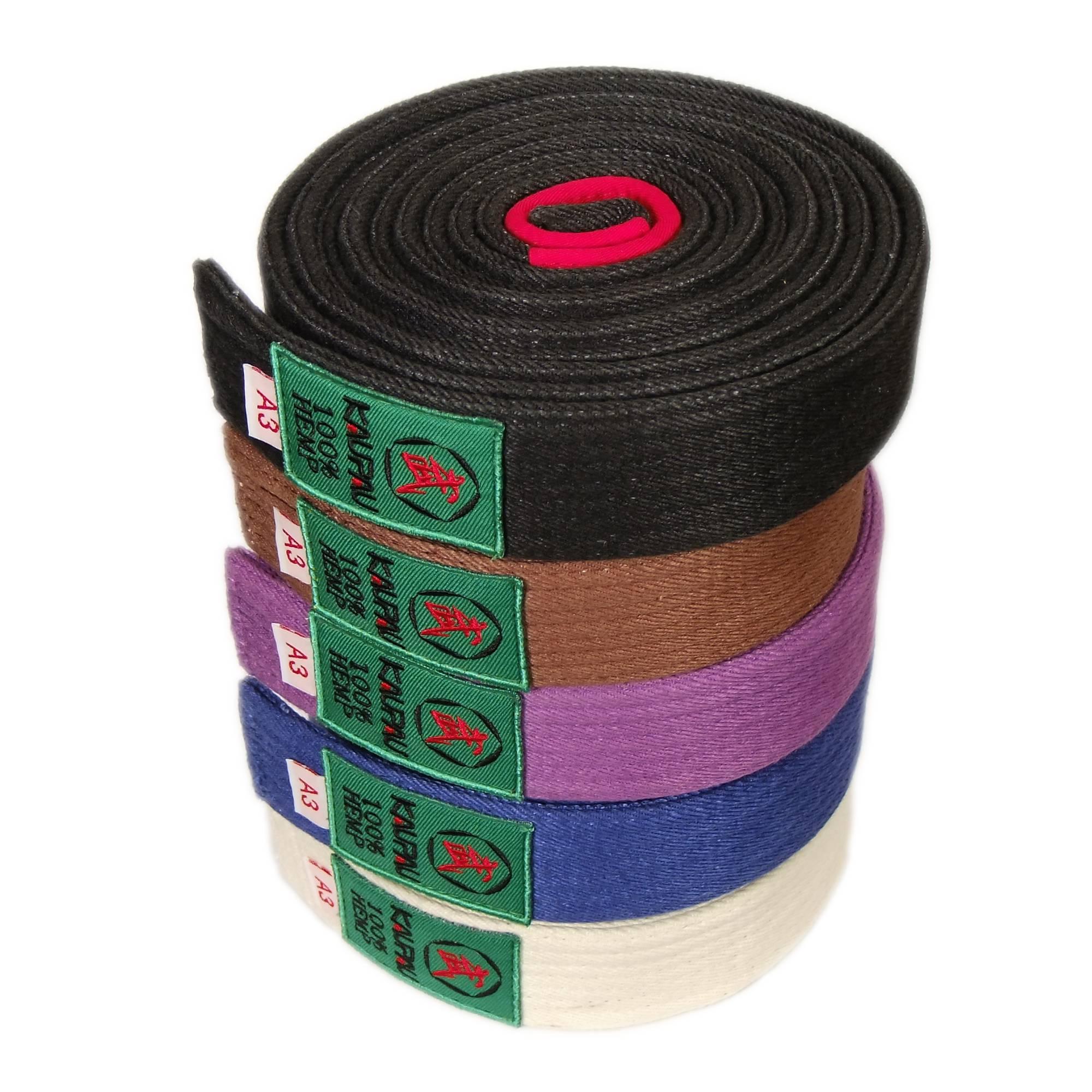 Kaupau бразилия мягкий техника одежда ремень конкуренция обучение с белым фиолетовый темно-коричневый цвета ленты цветной необязательный бесплатная доставка