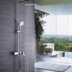家家乐全铜冷热挂墙式空气能增压淋浴大花洒套