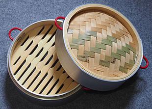竹蒸籠加厚型鋁合金包邊蒸籠包子蒸籠20/32小籠包家用蒸籠竹籠屜