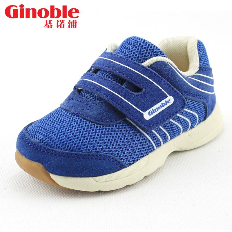 基諾浦機能鞋春秋款網麵寶寶學步鞋軟底防滑男童女童嬰兒鞋 鞋
